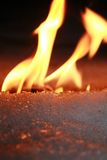 Incêndio e gelo fotografia de stock royalty free