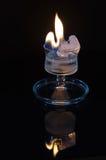 Incêndio e gelo Fotografia de Stock