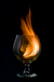 Incêndio e vidro Foto de Stock
