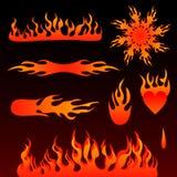 Incêndio, elementos do projeto Fotografia de Stock Royalty Free