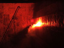 Incêndio em a noite Fotografia de Stock