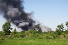 Incêndio em um campo Imagem de Stock