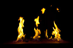 Incêndio em um fundo escuro Foto de Stock