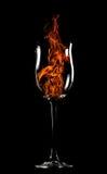 Incêndio em um vidro Imagens de Stock
