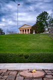Incêndio eterno pela sepultura de John Kennedy, Arlington, Virgina, EUA Fotos de Stock Royalty Free