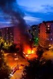 Incêndio - extinguindo Fotografia de Stock