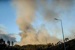 Incêndio florestal em Portugal Fotos de Stock