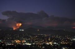 Incêndio florestal mortal do nacional de Los Angeles Imagens de Stock