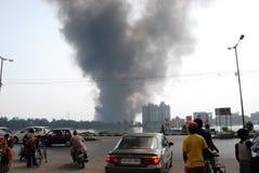 Incêndio freqüente em precários de Kolkata Fotos de Stock