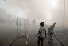 Incêndio freqüente em precários de Kolkata Imagens de Stock