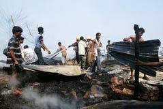 Incêndio freqüente em precários de Kolkata Fotografia de Stock Royalty Free