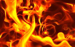 Incêndio gerado por computador fotografia de stock