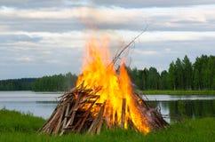 Incêndio grande Fotos de Stock