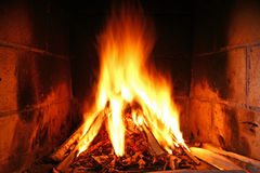 Incêndio Home Imagem de Stock Royalty Free