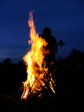 Incêndio-homem-machado Imagens de Stock