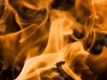 Incêndio impetuoso foto de stock