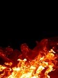 Incêndio isolado Fotos de Stock Royalty Free