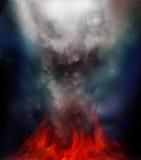Incêndio místico imagens de stock