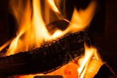 Incêndio na chaminé fotos de stock royalty free