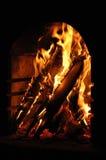 Incêndio na chaminé Imagens de Stock Royalty Free