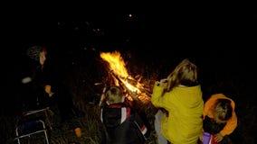 Incêndio na natureza Bokeh do fogo video estoque