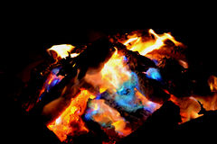 Incêndio na noite Fotos de Stock
