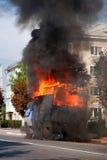 Incêndio na rua Imagem de Stock Royalty Free