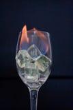 Incêndio no vidro Imagem de Stock