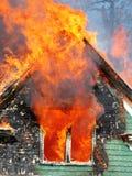 Incêndio para dentro Fotografia de Stock Royalty Free