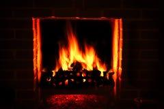 Incêndio rujir Imagem de Stock