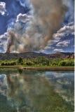 Incêndio selvagem de Waldo Canon na associação da reflexão Imagens de Stock Royalty Free