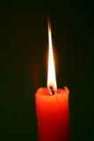 Incêndio vermelho da vela Foto de Stock
