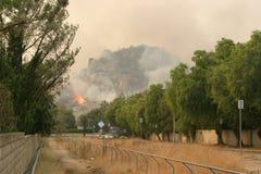 Incêndio violento de Califórnia fotografia de stock royalty free