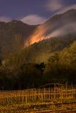 Incêndio violento em Escazu Costa Rica fotos de stock royalty free
