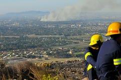 Incêndios de Cape Town Fotos de Stock