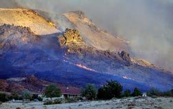 Incêndios elevados da escala do deserto Imagens de Stock Royalty Free