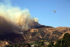 Incêndios violentos de Los Angeles Imagens de Stock Royalty Free