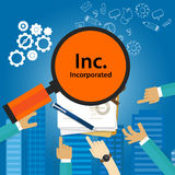 Inc incorporated Types of business corporation organization entity. Ve royalty free illustration