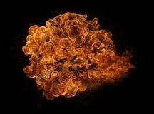 Inc?ndio e flamas com uma obscuridade ardente - vermelho - fundo alaranjado Inc?ndio e flamas fotos de stock royalty free