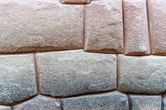 Inca architecture. Fragment of a wall in typical Incan architecture Stock Photo