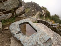 Inca astronomical water mirror Royalty Free Stock Photos