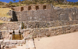 Inca baths, stone architecture,  Tambo Machay Royalty Free Stock Photo