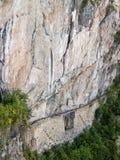 Inca bridge at Machu Picchu  Stock Photos
