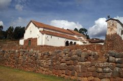 Inca castle ruins in Chinchero Stock Photography