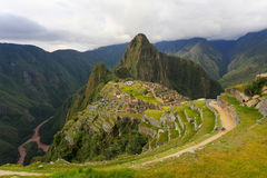 Inca citadel Machu Picchu in Peru. In 2007 Machu Picchu was voted one of the New Seven Wonders of the World royalty free stock images