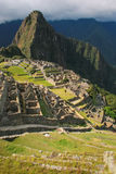 Inca citadel Machu Picchu in Peru. In 2007 Machu Picchu was voted one of the New Seven Wonders of the World royalty free stock photos