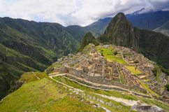 Inca citadel Machu Picchu in Peru. In 2007 Machu Picchu was voted one of the New Seven Wonders of the World stock photography