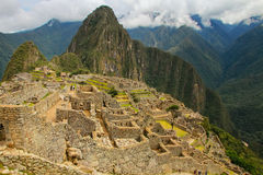 Inca citadel Machu Picchu in Peru. In 2007 Machu Picchu was voted one of the New Seven Wonders of the World stock image