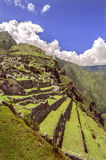 Inca city Machu Picchu (Peru) Royalty Free Stock Images