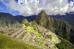 Inca city Machu Picchu (Peru) Royalty Free Stock Photos